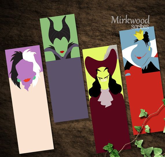 Disney Villains Bookmarks Maleficent Captain by MirkwoodScribes