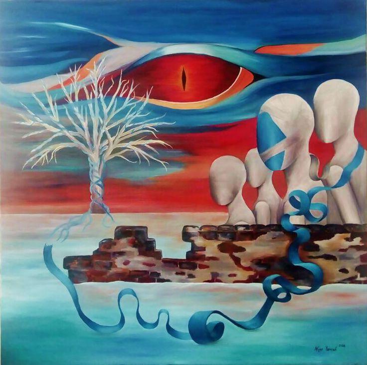 Ejderin Gözü (Eye of Dragon) by Nijer Yeniceli #Tuval üzerine #Yağlıboya / #Oiloncanvas 100cm x 100cm  #gallerymak #sanat #ig_sanat #sanateseri #surreal #sürrealizm #surrealizm #gercekustuculuk #ejderha #artistanbul #istanbul #koleksiyon #atolye #contemporary #contemporaryart #contemporaryistanbul #istanbulmodern #artbasel #artsy #masterpiece #artgallery #contemporaryartcurator #dragon #art #artlover #artcurator