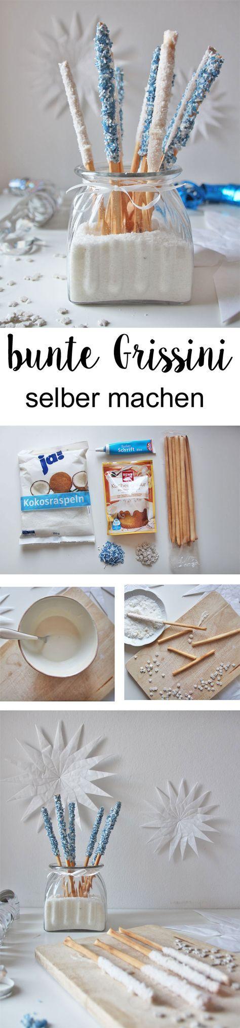 Bunte Grissini selber machen: DIY Rezept für bunte Party Sticks im Eisköniginnen Style – Petra