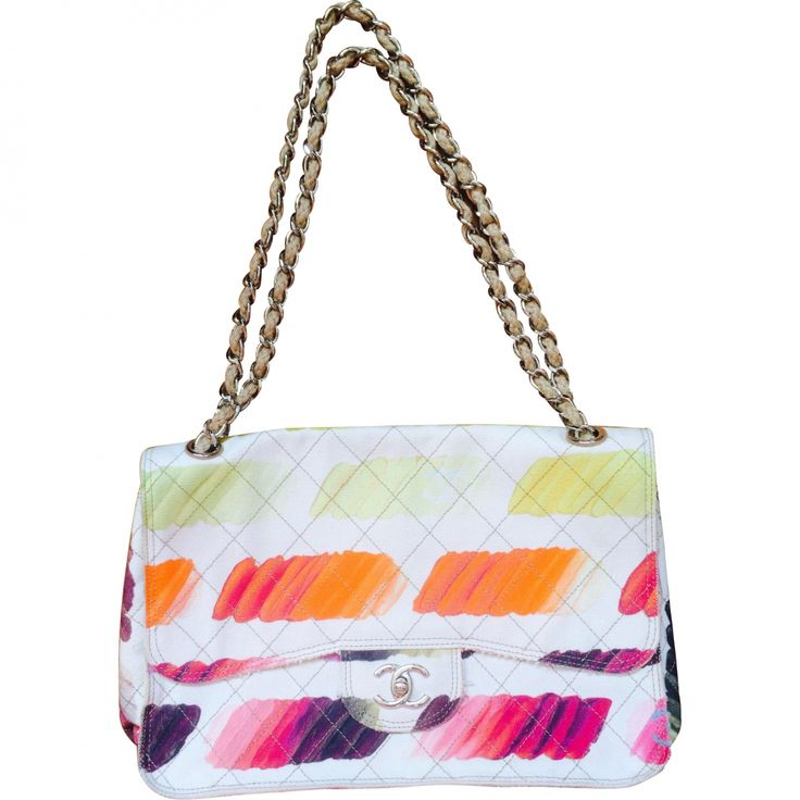 CHANEL Multicolour Cloth Handbag Timeless