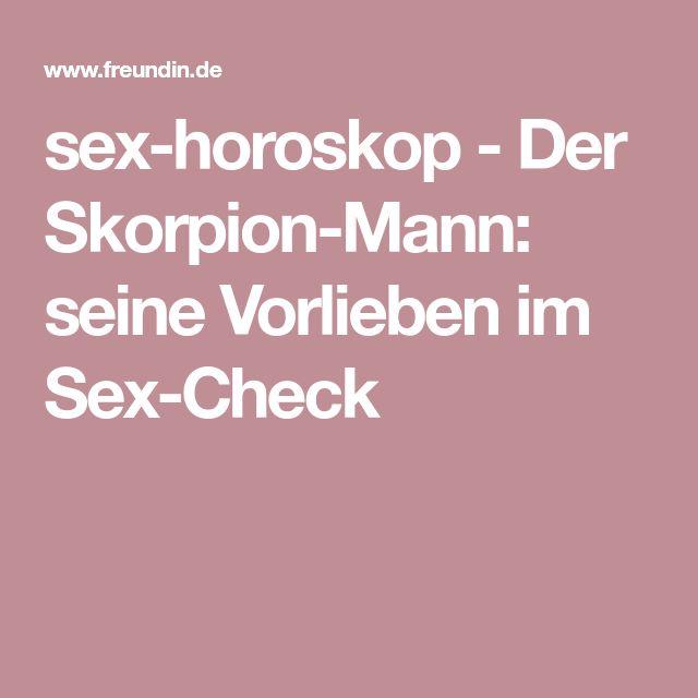 sex-horoskop - Der Skorpion-Mann: seine Vorlieben im Sex-Check