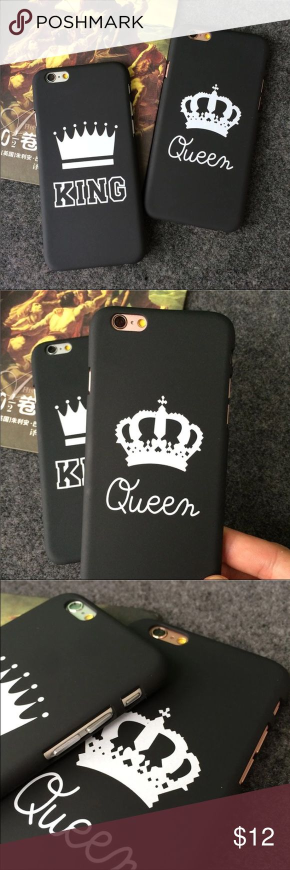 IPHONE CASE FOE COUPLES QUEEN & KING IPHONE CASE FOE COUPLES QUEEN & KING. AVAILABLE IN 4 DIFFERENT SIZES. IPHONE 6 6S, 6 PLUS 7 AND 7 PLUS LIMITED QUANTITY. ❤️ PLEASE SELET THE RIGHT SIZE, I'M NOT RESPONSIBLE IF YOU CHOOSE THE WRONG SIZE FOR YOUR PHONE. ❤️ THE PRICE IS FOR ONE CASE Accessories Phone Cases