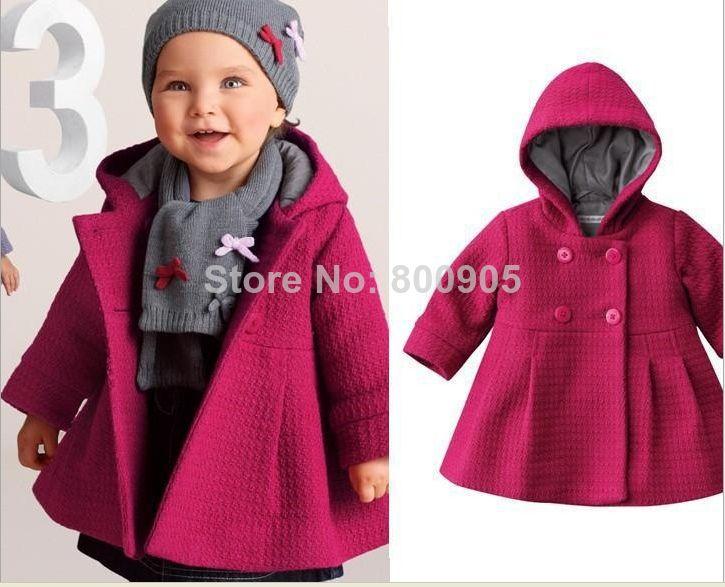Retail kinderen baby meisjes jas herfst winter kinderen jassen, meisje mode knoppen jas jassen bovenkleding