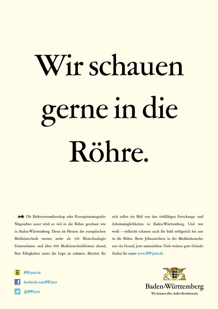 Nirgendwo sonst wird so viel in die Röhre geschaut wie in Baden-Württemberg. Denn im Herzen der Medizintechnik warten mehr als 130 Biotechnologie-Unternehmen und über 600 Medizintechnikfirmen darauf, deine Fähigkeiten unter die Lupe zu nehmen.