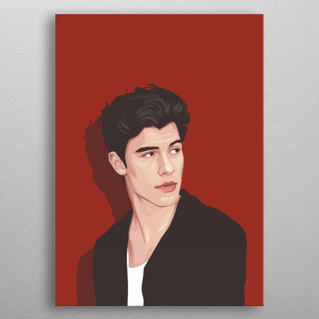 Shawn Mendes Vector Art Metal Poster Print Best Collection Displate In 2020 Digital Portrait Art Mendes Shawn Mendes New Tattoo