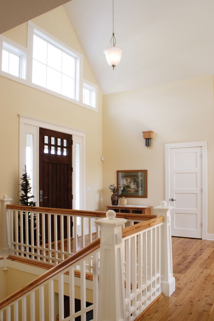 Home entry ideas house plans and more - The Perfect Front Entry Hall Open And Airy With Craftsman Details White Doorsrailing Ideasentry Foyerstairwayhomesfront Doorsfront Entryhouse Plans