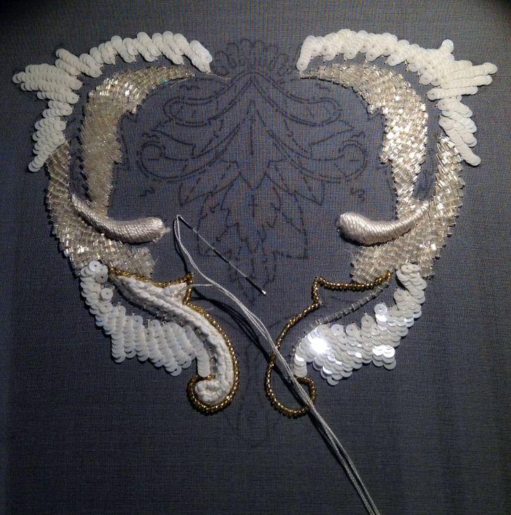 François Lesage - Maitre d'Art - Broderies Haute Couture - Le Travail