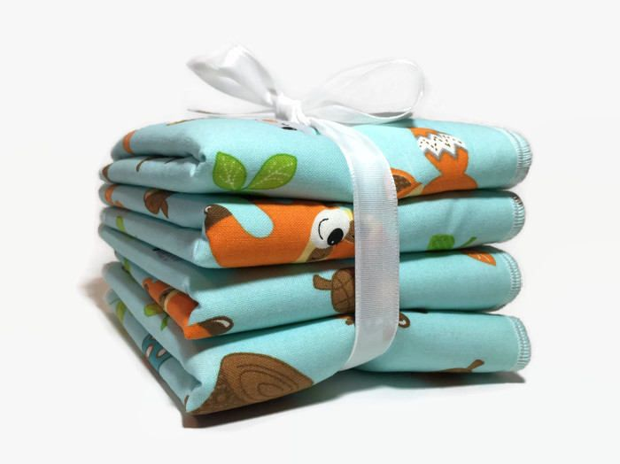 Baby Wash Cloth Set - Children's Wash Cloths - Wash Rags - Woodland Baby - Facial Cloths - Baby Bath Cloths - Baby Bath Set - Baby Gift Set by BeastiesBabies on Etsy