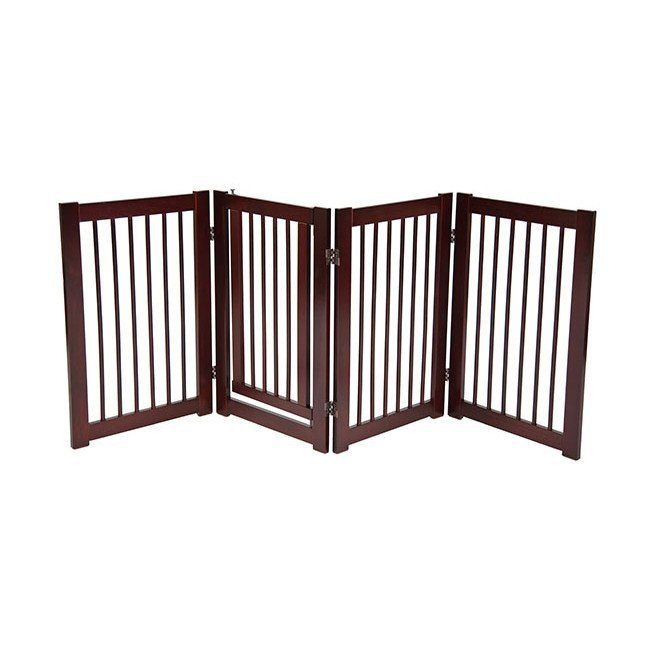 "360° DESIGNER DOG GATE WITH DOOR 30"" – Free shipping and tax included on all designer dog gates. Add style to your home with our luxury pet gates.  Perfect for puppies too! Our indoor and outdoor dog gates will be a great addition to your home.  #dog #doggate #talldoggate #petgate #puppygate #designerpetfurniture"