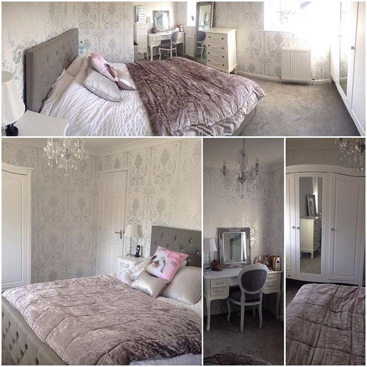 Любить мой белый и серебряный французский будуар тематические спальня ❤️…