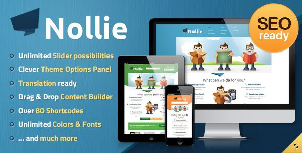 Nollie theme is a totally new & fresh theme not only for business solutions. Can be also great choice for any type of website. If you will try our Drag Content Builder or Theme Options panel you won`t never work with other theme. Everything is really easy and considerably saves your time. Just try it and you will understand what are we talking about.