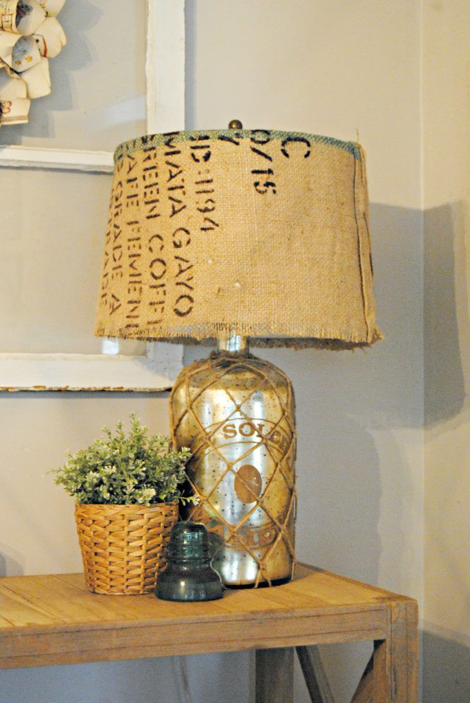 The 25 best covering lamp shades ideas on pinterest recover burlap covered lamp shade keyboard keysfo Gallery