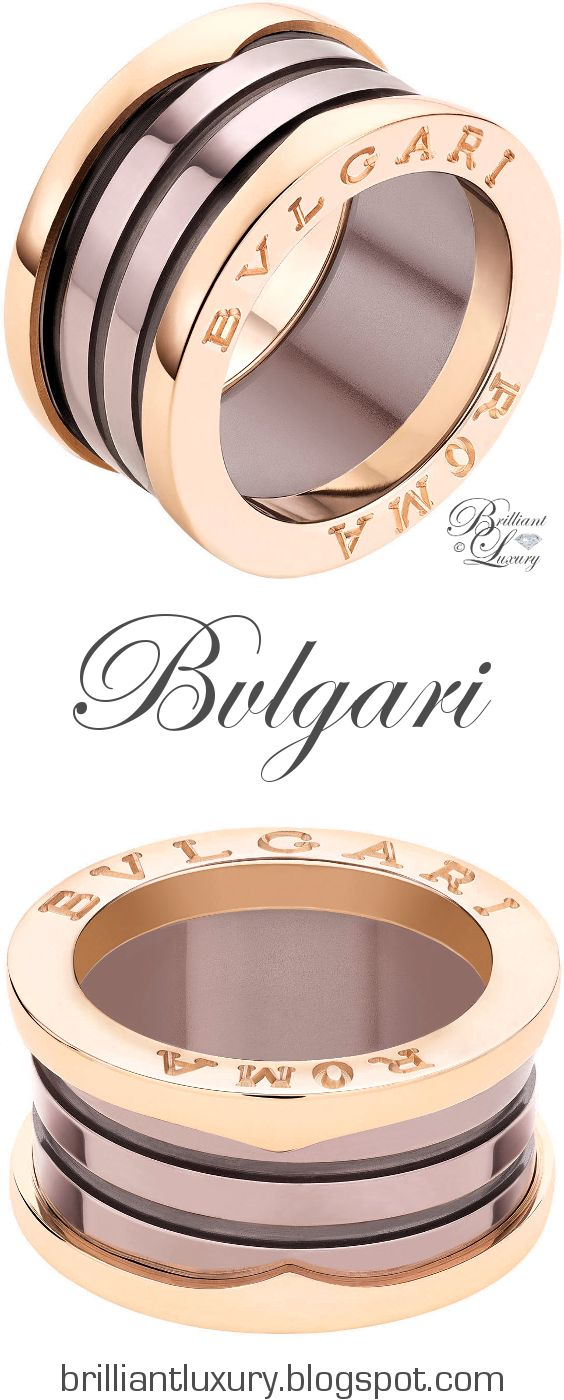 brilliant luxury bvlgari bzero1 4band 18 kt rose