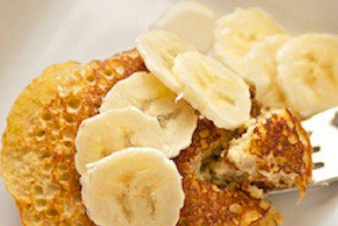 Gezond ontbijt: bananen pannenkoeken