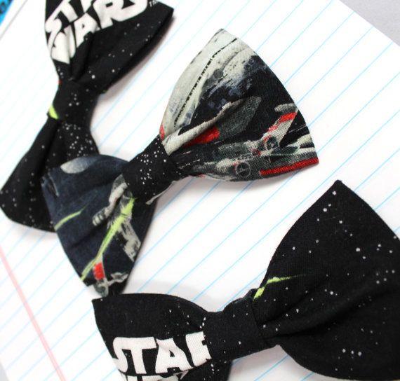 Star Wars Bow Tie- Death Star- Tie Fighters- Geek Wedding. $25.00, via Etsy.