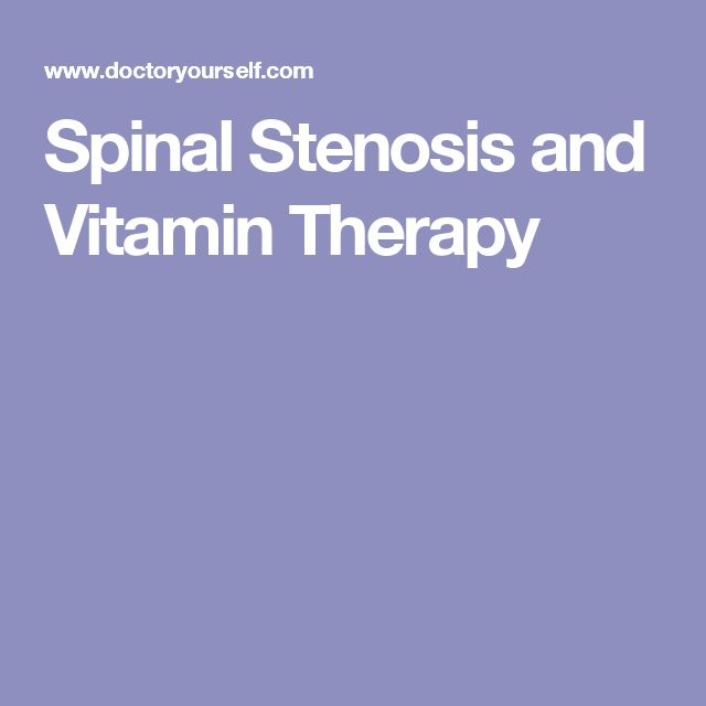 Spinal Stenosis and Vitamin Therapy