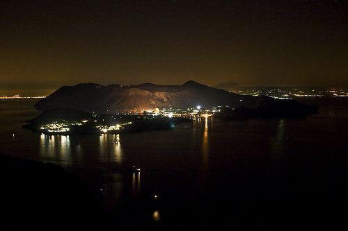 Vulcano at night