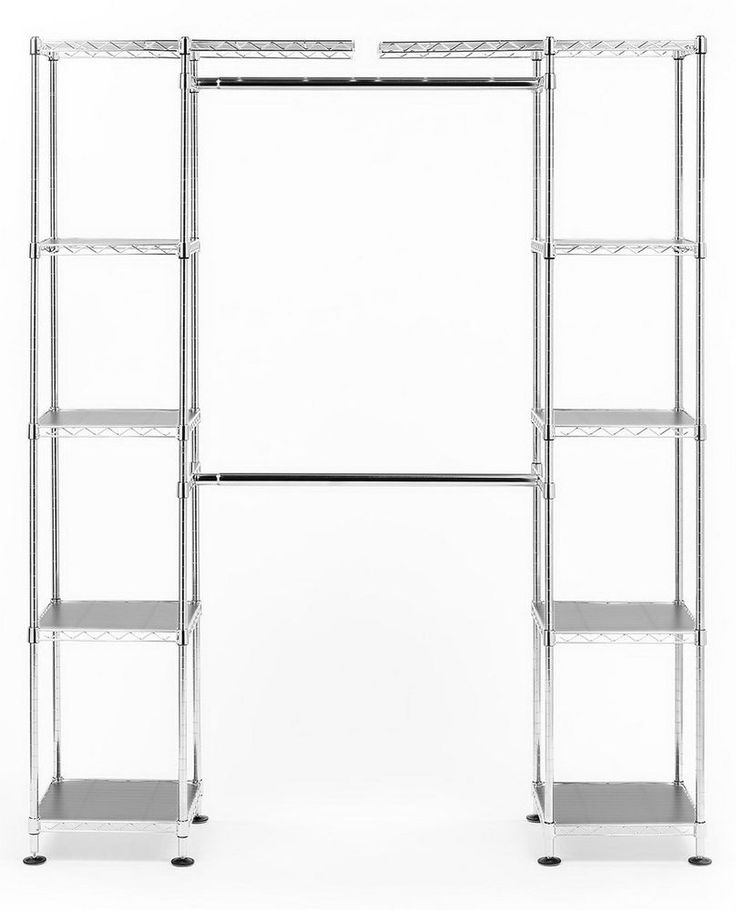 Prince Hanger Deluxe Width Adjustable Quadruple Shelving System Steel Silver