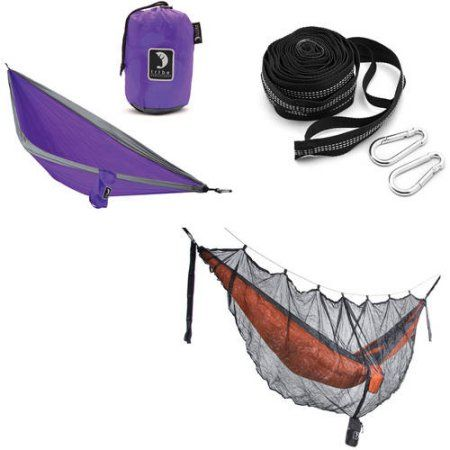 Tribe Provisions Hammock Start Kit: Hammock, Tree Straps and Mosquito Net, Purple