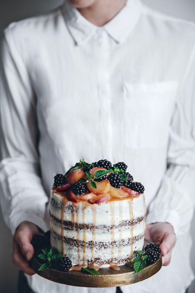 Call me cupcake: A peach carrot cake with cream cheese frosting + A Saveur blog awards finalist!