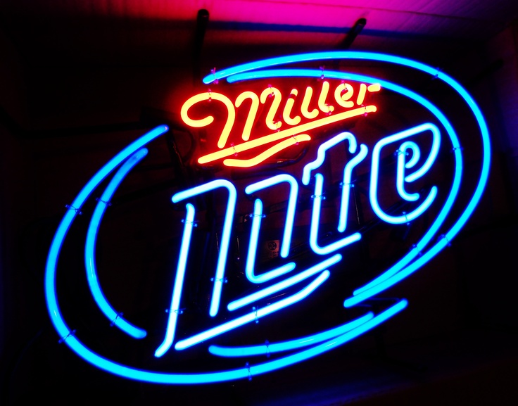 Miller Light Neon Bar Sign (new), circa 2012