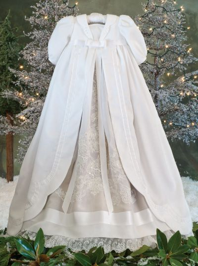 Sew Beautiful Magazine pattern for winter christening robe.
