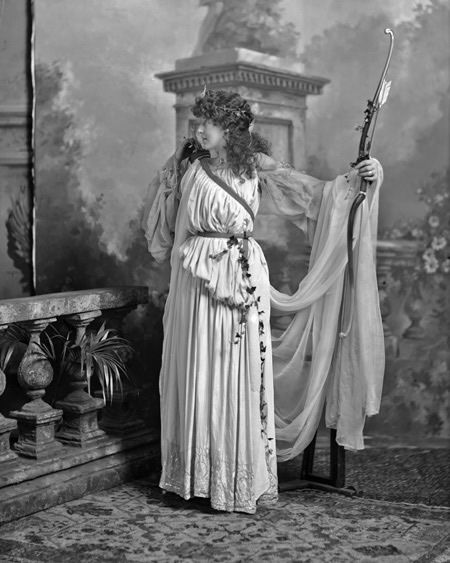 "Lady Archibald Campbell  née Janey Sevilla Callander as ""Artemis, Goddess of the Chase"""