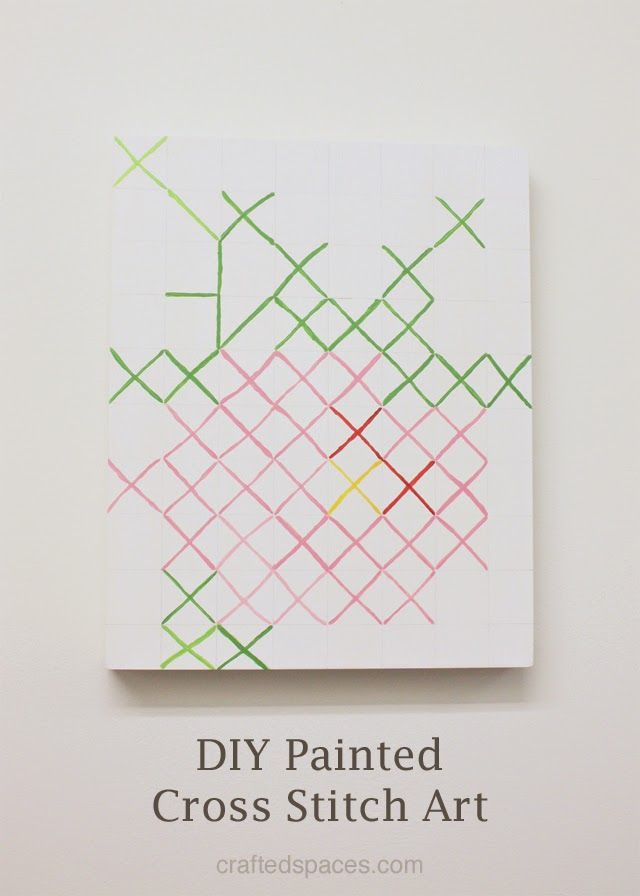 DIY Painted Cross Stitch Art | Crafted Spaces
