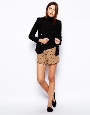 polka dot scalloped shorts. not my season but cute :)