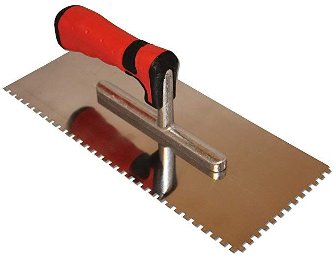 12 Arrive 7 10 12 11 64 X 11 64 Square Notch Trowel For Ditra Concrete Edging Concrete Curbing Diy Landscaping