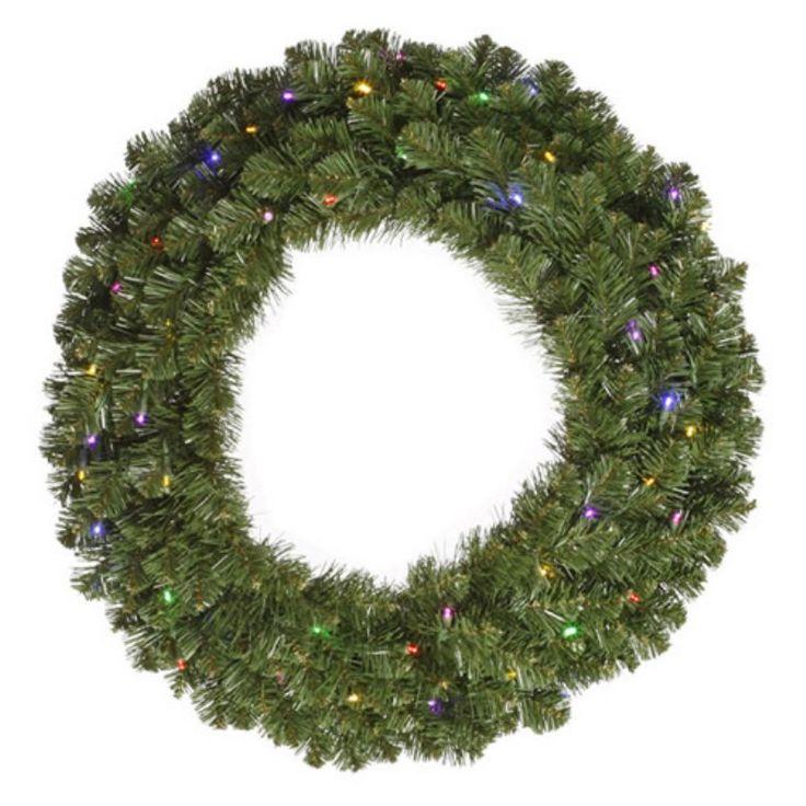 Vickerman 60 in. Grand Teton Pre-Lit Wreath with 400 Multi-Colored Lights - G125662LED