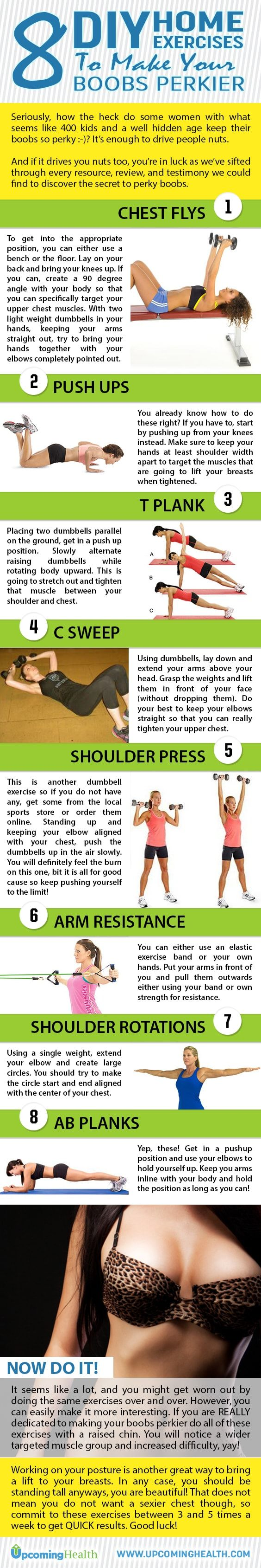 Best exercises for perky boobs that can be performed with dumbbells, resistance bands and bodyweight only!