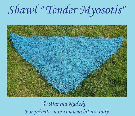 Pattern for handmade knitted shawl Tender by CreativeHandsIdeas
