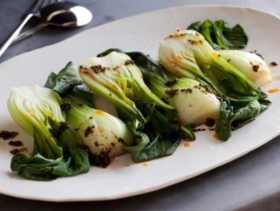 Healthy Spicy Steamed Baby Bok Choy Recipe : Food Network Kitchen : Food Network