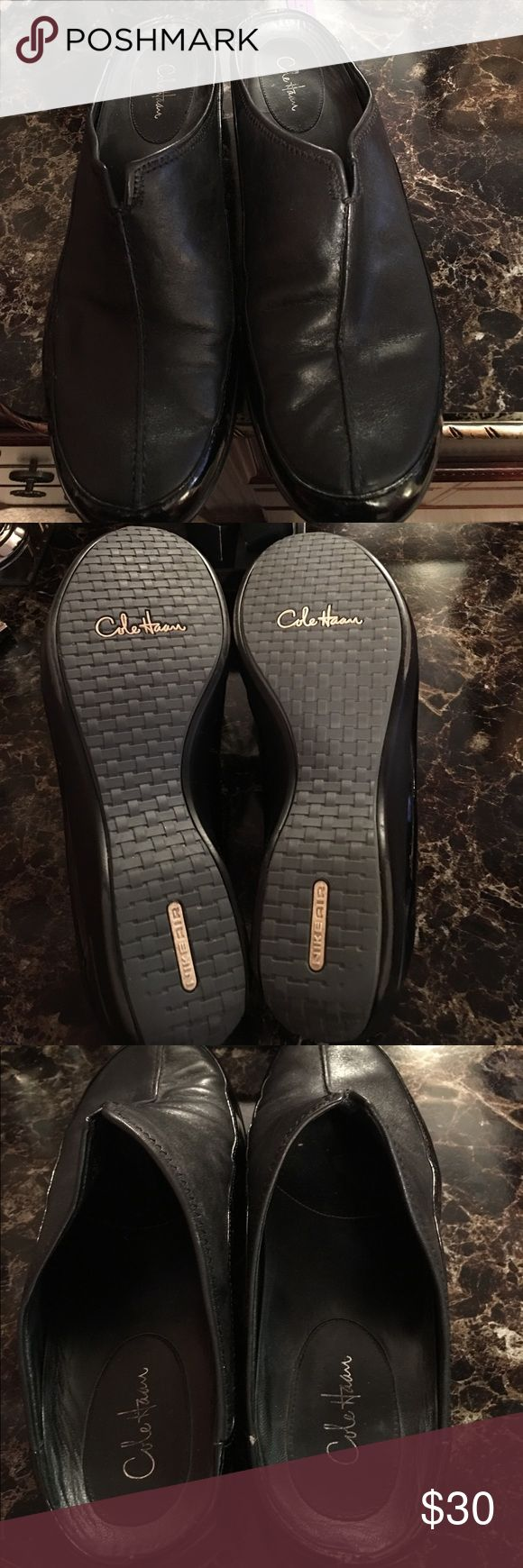 Cole Haan Nike Air Mules Comfortable Comfortable Cole Haan Mules! Only Worn Twice! Only one small flaw, there is a small nick on back of one of the shoes as shown on the picture! There are a must have to your closet! Cole Haan Shoes Mules & Clogs