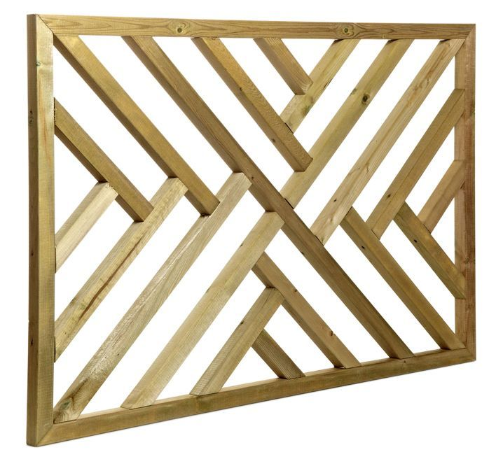 Tanalised Timber Modern Trellis Panel (H)762mm (W)1.13m | Departments | DIY at B&Q