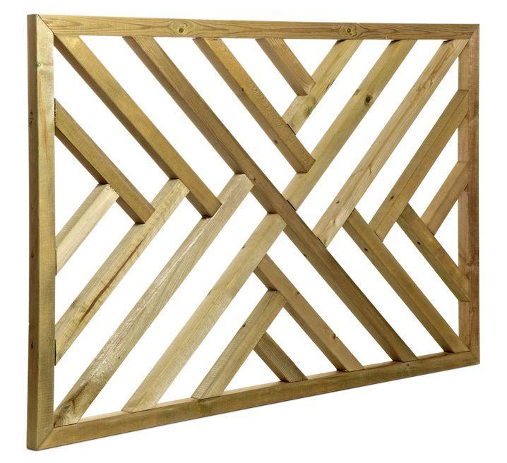 Tanalised Timber Modern Trellis Panel (H)762mm (W)1.13m | Departments | DIY at B&Q