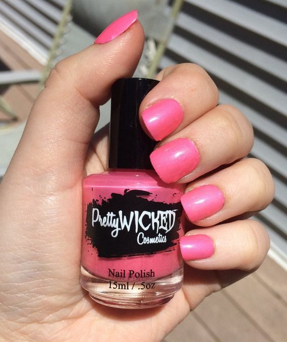 Bubblegum Pink Nail Polish Mimi Polish Hot by PrettyWickedCosmetic
