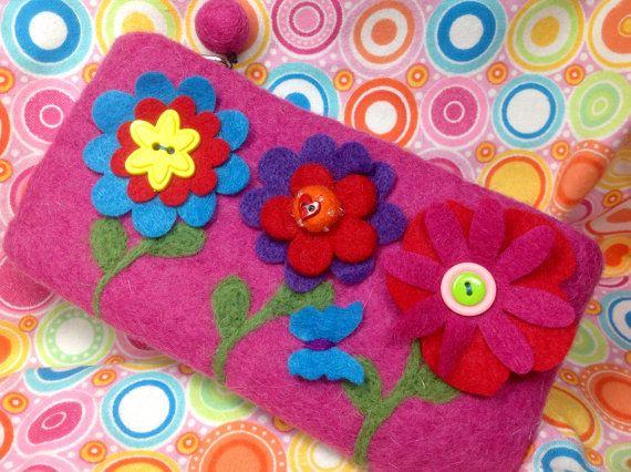 Pink flower bag by showmealittlesign on Etsy, $15.00