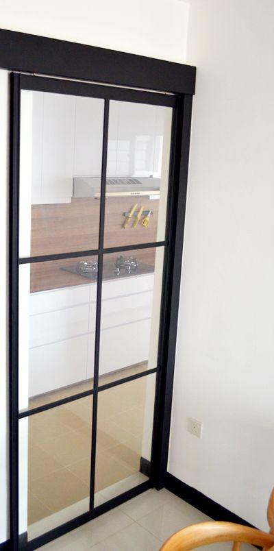 Best Black Powder Coated Aluminium Frame Kitchen Sliding Door 640 x 480