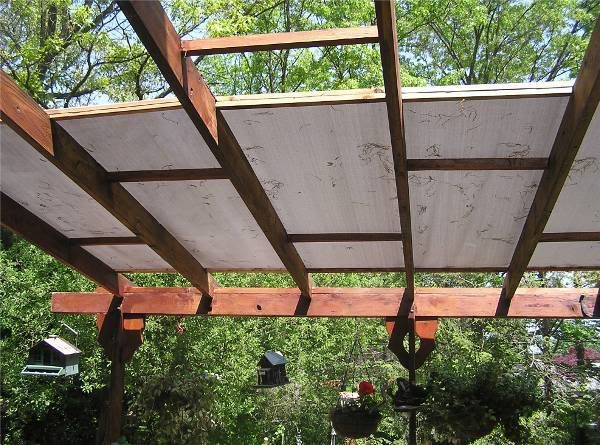 Easy and Cheep Pergola Cover. - WoodworkersZone - Woodworking Forums