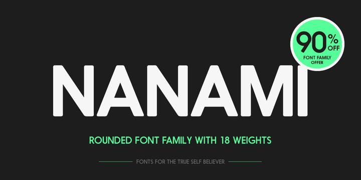Nanami Rounded (90% discount, from 2€) - http://fontsdiscounts.com/nanami-rounded/