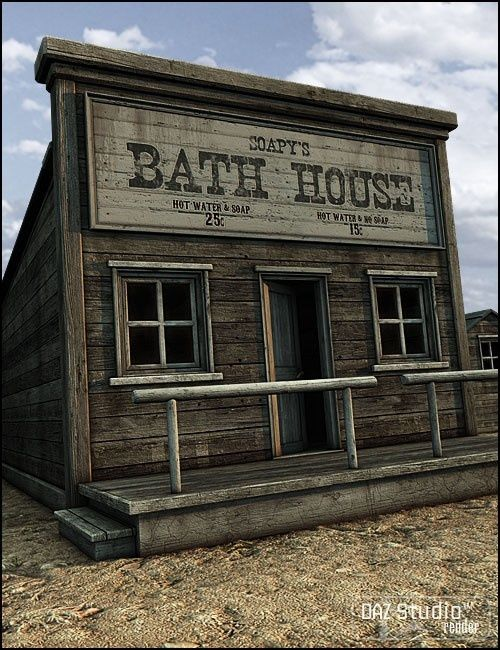 Old West Bath House in Vendor  Jack Tomalin  Models by Daz132 best Western Town Minatures images on Pinterest   Ghost towns  . Wild West Home Decor. Home Design Ideas
