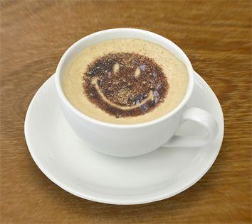 Een vrolijke kop koffie!