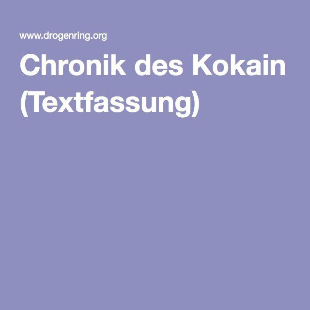 Chronik des Kokain (Textfassung)