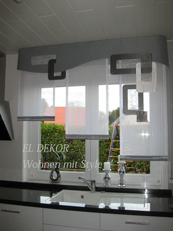 38 besten Gardinen Bilder auf Pinterest Fensterdekorationen - gardinen modern wohnzimmer schwarz weis