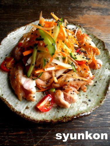 【簡単!!おつまみ】鶏肉と野菜のさっぱり南蛮だれ|山本ゆりオフィシャルブログ「含み笑いのカフェごはん『syunkon』」Powered by Ameba