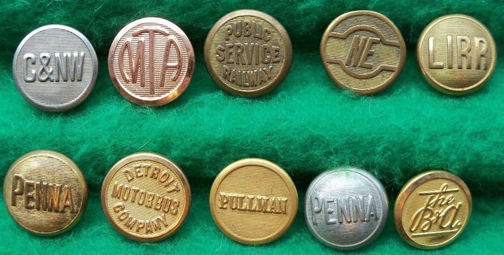 railroad uniform buttons