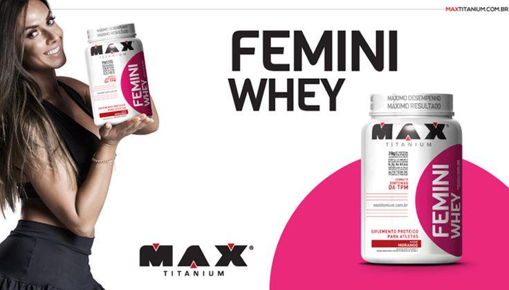 Femini Whey Max Titanium - Nutriva Suplementos Alimentares - Loja de Suplementos Online - Site de Suplementos Confiável