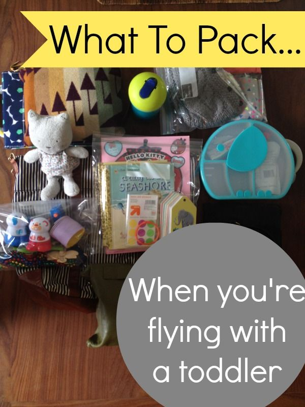 What To Pack In a Toddler Carry-On Bag - lots of good ideas for distractions as well as the essentials.
